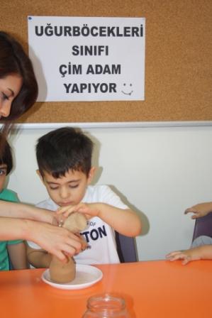 """UĞURBÖCEKLERİ SINIFININ YAPMIŞ OLDUKLARI """"ÇİM ADAMLAR"""""""