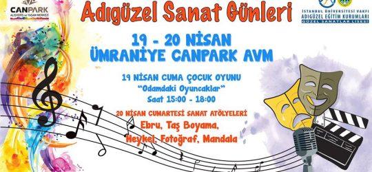 """GELENEKSEL """"ADIGÜZEL SANAT GÜNLERİ"""" CANPARK AVM'DE!"""